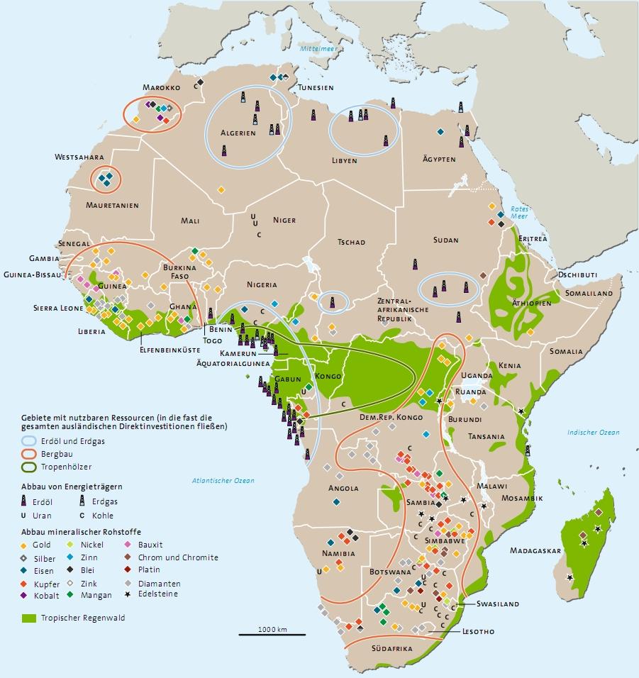Rohstoffe in Afrika